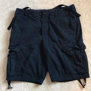 Men's navy blue Abercrombie shorts SZ 36